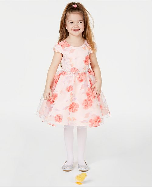 Rare Editions Matching Sister Baby, Toddler & Little Girls Embellished 3D Floral-Print Dress