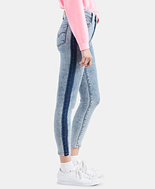 Levi's® 721 Striped High-Rise Ankle Skinny Jeans