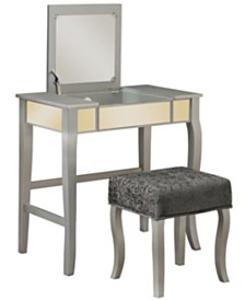 Harper Vanity Set with Bench and Mirror