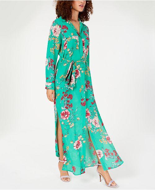 8a54f300148 Lola Grace Juniors  Floral Maxi Shirtdress   Reviews - Dresses ...