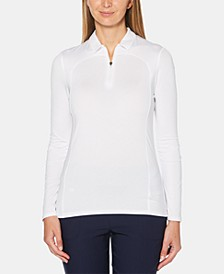 Zip Long-Sleeve Golf Polo