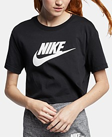 Women's Sportswear Cotton Logo Cropped T-Shirt