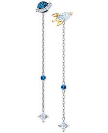 Swarovski Two-Tone Crystal Space Convertible Earrings