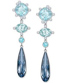 Swarovski Pavé & Colored Crystal Geometric Drop Earrings