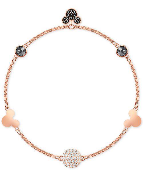 e67867ffe ... Swarovski Remix Rose Gold-Tone Crystal Fireball & Mickey Mouse Magnetic  Link Bracelet ...