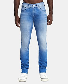True Religion Men's Straight Fit Light Blue Jeans