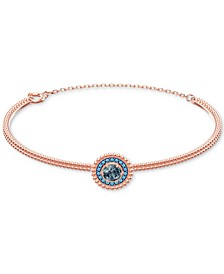 Crystal Circle Bangle Bracelet