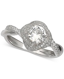 Giani Bernini Cubic Zirconia Love Knot Ring in Sterling Silver, Created for Macy's