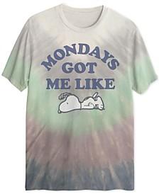 Monday Snoopy Tie Dye Men's T-Shirt