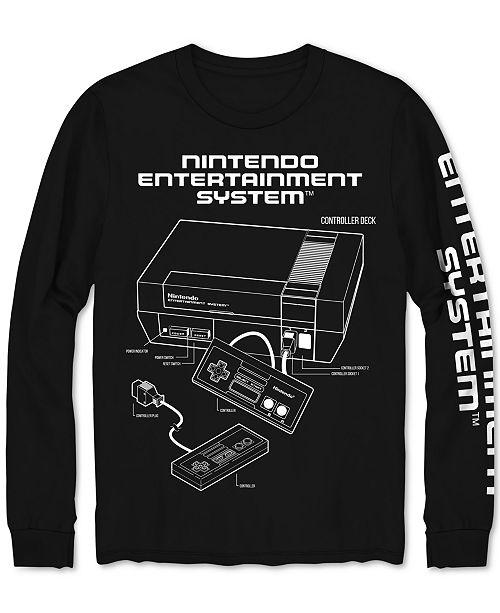 Hybrid Nintendo NES Long-Sleeve Men's Graphic T-Shirt