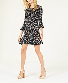 MICHAEL Michael Kors Wildflower Printed Flounce Dress, Regular & Petite