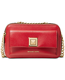 MICHAEL Michael Kors Sylvia Crossgrain Leather Double Zip Crossbody
