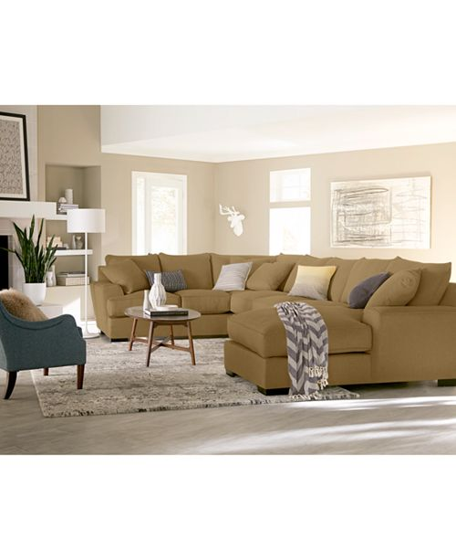 Furniture Ainsley Fabric Sectional Collection Created For: Furniture CLOSEOUT! Ainsley Fabric Sectional Collection