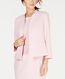 Kasper Inverted-Collar Blazer