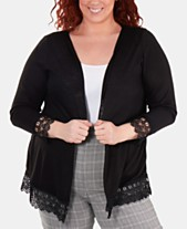 NY Collection Plus Size Lace-Trimmed Open-Front Cardigan Sweater affd54f8c