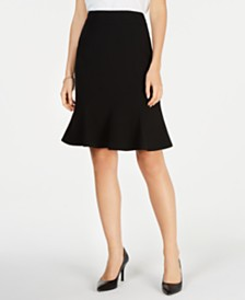 Kasper Stretch Crepe Flare Skirt