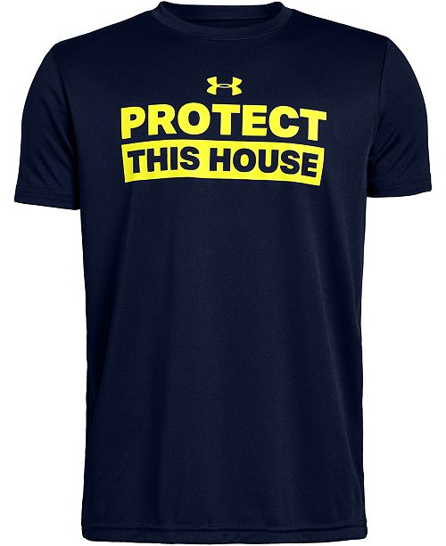Under Armour Big Boys House-Print T-Shirt