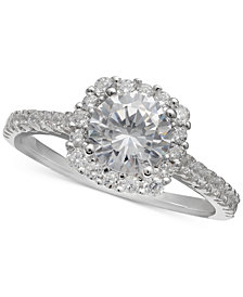 Giani Bernini Cubic Zironia Halo Ring, Created for Macy's