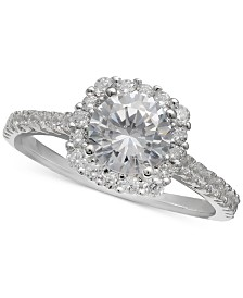 Giani Bernini Cubic Zirconia Halo Ring, Created for Macy's