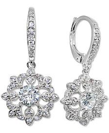 Giani Bernini Cubic Zirconia Cluster Drop Earrings, Created for Macy's