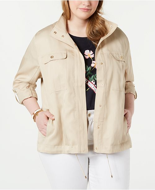 Tommy Hilfiger Plus Size Windbreaker Jacket, Created for Macy's