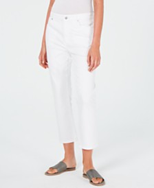 Eileen Fisher Cropped Organic Cotton Jeans, Regular & Petite