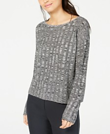 Eileen Fisher Organic Linen and Silk Scoop-Neck Sweater
