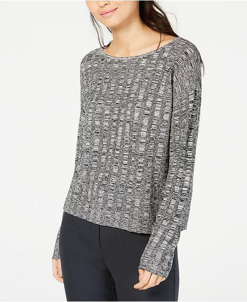 a04b3d3cc2d Eileen Fisher Organic Linen and Silk Scoop-Neck Sweater   Reviews ...