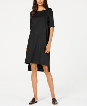 Eileen Fisher Dresses TENCEL HIGH-LOW T-SHIRT DRESS, REGULAR & PETITE