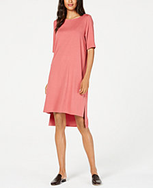 Eileen Fisher High-Low T-Shirt Dress, Regular & Petite