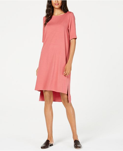 f05bd409673 ... Eileen Fisher Tencel reg  High-Low T-Shirt Dress