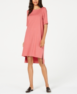 Eileen Fisher Dresses TENCEL HIGH-LOW T-SHIRT DRESS, REGULAR & PETITE