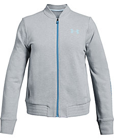Under Armour Big Girls Rival Terry Zip-Up Track Jacket