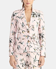 RACHEL Rachel Roy Calli Printed Tie-Waist Blazer