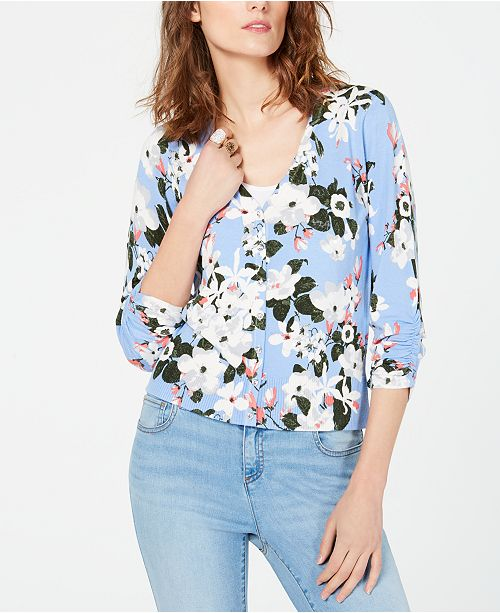 INC International Concepts I.N.C. Floral-Print Cardigan, Created for Macy's