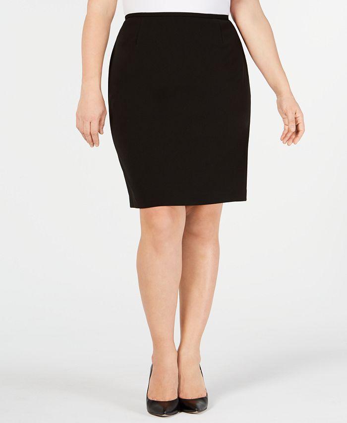 Calvin Klein - Plus Size Soft Crepe Pencil Skirt