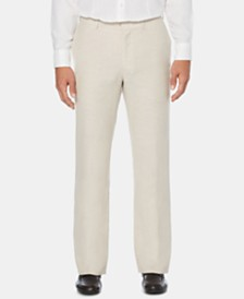 Cubavera Men's Flat Front Textured Linen Pants