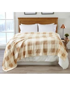 Premium Velvet Luxury Blanket with Buffalo Check Design - King