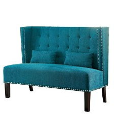 Venetian Worldwide Fabric Love Seat Bench