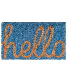 "Doormat Cursive Hello 18"" x 30"", Non-Slip, Durable"