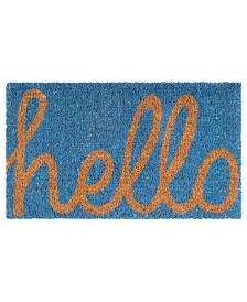 "Fab Habitat Doormat Cursive Hello 18"" x 30"", Non-Slip, Durable"