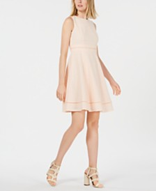 Calvin Klein Petite Eyelet Fit & Flare Dress