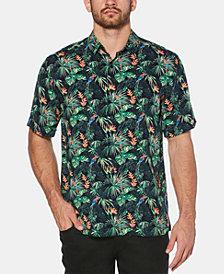 Cubavera Men's Big & Tall Tropical Parrot-Print Shirt