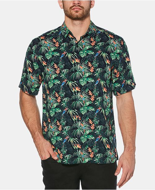 0b1739ac0 Cubavera Men's Big & Tall Tropical Parrot-Print Shirt & Reviews ...