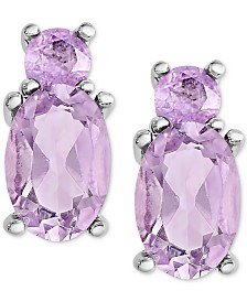 Amethyst Stud Earrings (1 ct. t.w.) in Sterling Silver