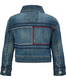 Baby Girls Embroidered Denim Jacket