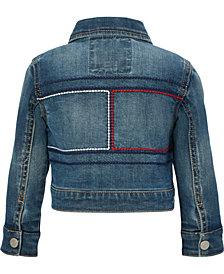 Tommy Hilfiger Baby Girls Embroidered Denim Jacket