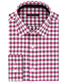 Sean John Men's Big & Tall Classic/Regular Fit Pink Check Dress Shirt