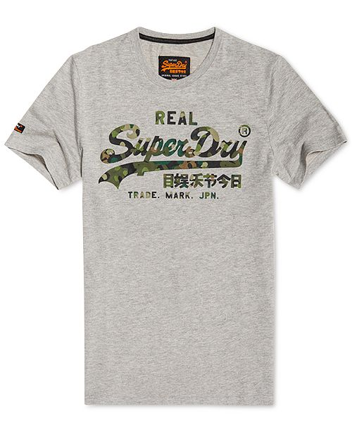 fabf0c71f15c1 Superdry Men's Vintage Layered Camouflage Logo T-Shirt - T-Shirts ...