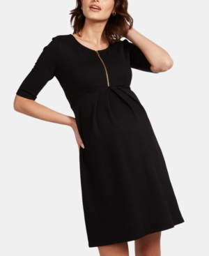 Vintage Style Maternity Clothes Isabella Oliver Maternity Pleated Dress $159.20 AT vintagedancer.com